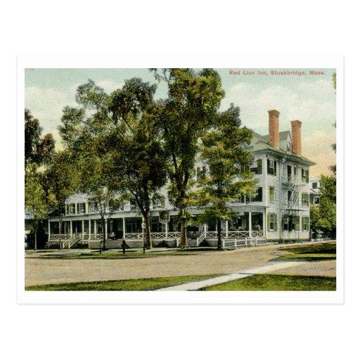 Red Lion Inn, Stockbridge, MA 1909 Vintage Post Cards