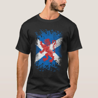 Red Lion Rampant and Scottish Flag T-Shirt