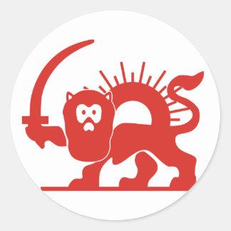 Red Lion With Sun, Iran Classic Round Sticker