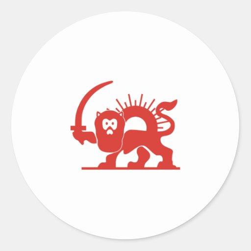 Red Lion with Sun, Iran Sticker