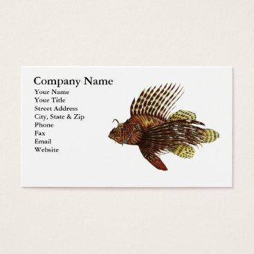 Professional Business Red Lionfish Business Card