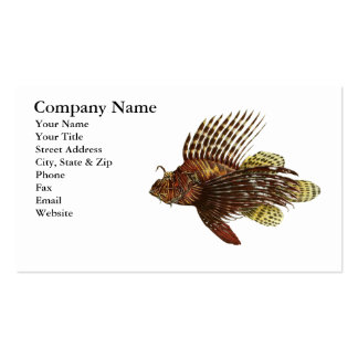 Red Lionfish Business Card