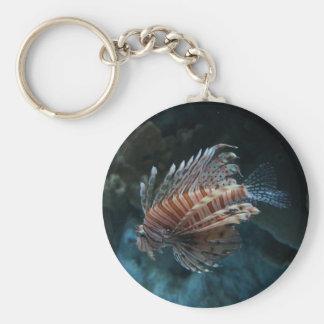 Red Lionfish Button Keychain