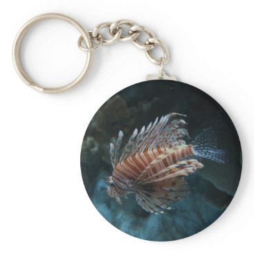 everydaylifesf Red Lionfish Button Keychain