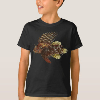 Red Lionfish Vintage Print T-Shirt