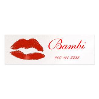 Red lip stick print Business Card