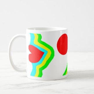 Red lips abstract colourful design basic white mug