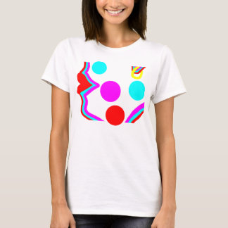 Red lips and bold coloured abstract face design T-Shirt