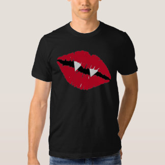 Red Lips and Fangs T Shirt
