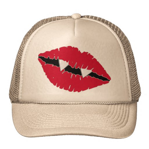 Red Lips and Fangs Trucker Hat