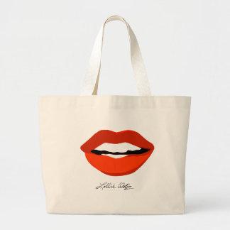 Red Lips Jumbo Tote Bag