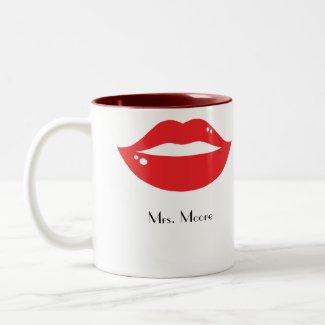 Red Lips Bride's Mug mug