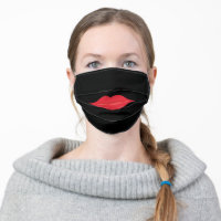Red Lips Cloth Face Mask