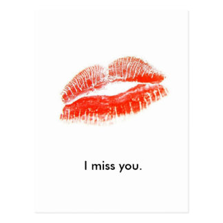 red_lips, I miss you. Postcard