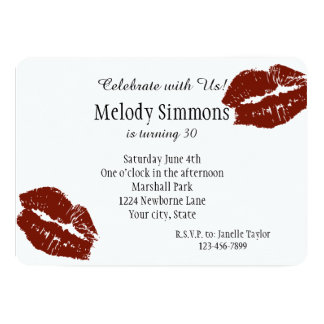 Red Lips Kiss Card