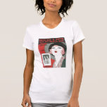 Red Lips Kiss My Blues Away Songbook Cover T-Shirt