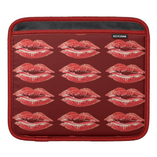 Red Lips Kiss Sleeves For iPads