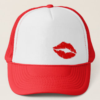 Red Lips Kiss Trucker Hat