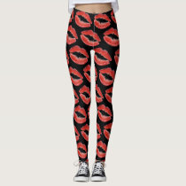 Red Lips Leggings