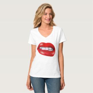 red lips,lip print T-Shirt