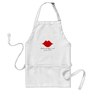 red lips makeup artist adult apron