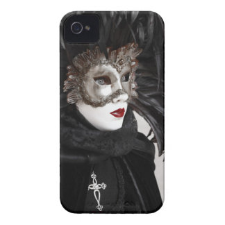 Red Lips Mask  Blackberry Case