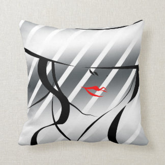Red lips pillow