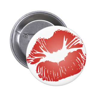 Red Lips Pinback Button