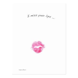 Red lips postcard
