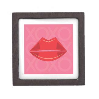 Red Lips Premium Keepsake Boxes