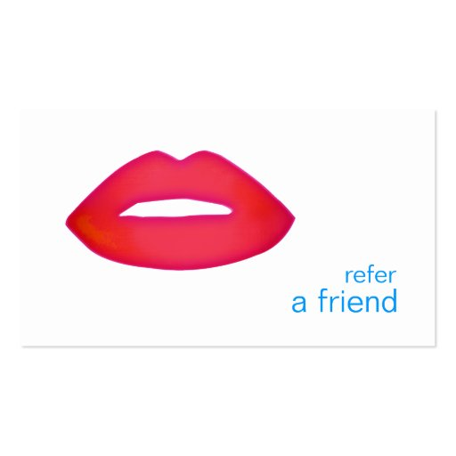 Red Lips Refer A Friend Coupon Salon Business Card Templates