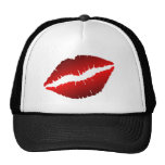 red lips rotated trucker hats
