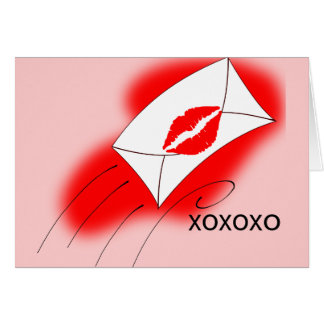 Red Lips Sealed with a Kiss Card
