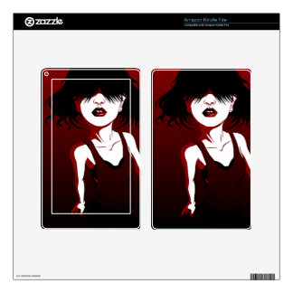 Red Lips Skins For Kindle Fire