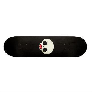Red Lips Skull Skate Deck