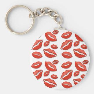 Red Lips Valentine's Day Keycahin Basic Round Button Keychain