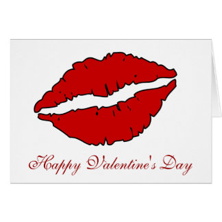 Red Lips Valentin's Day Cards