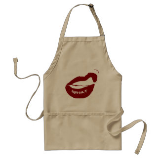 Red Lips What Grr grit teeth Adult Apron