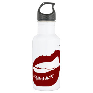 Red Lips What Grr grit teeth Stainless Steel Water Bottle