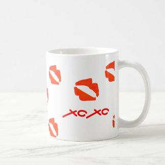Red lips XOXO. Coffee Mug