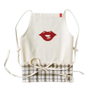 Red Lips Zazzle HEART Apron