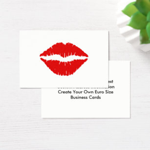 Lip shaped business cards templates zazzle red lipstick business card colourmoves Gallery