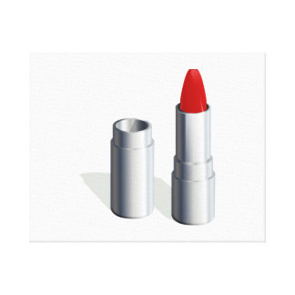 Red Lipstick Stretched Canvas Prints