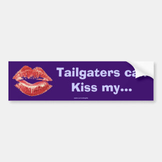 Red Lipstick Kiss Romantic St Valentines Day Gift Bumper Sticker