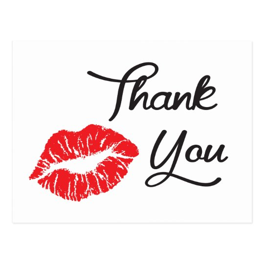 Открытка спасибо поцелуй