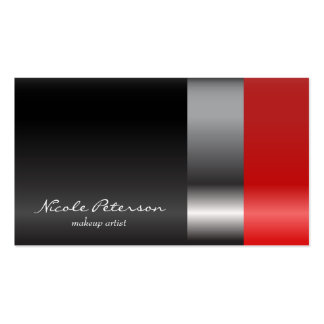 Red lipstick makeup business card