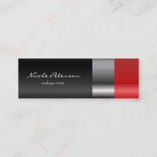Lipstick business cards templates zazzle red lipstick makeup mini business card colourmoves