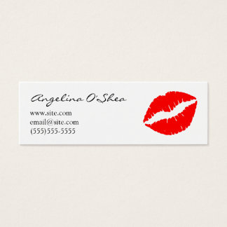 Red Lipstick Skinny Business Card