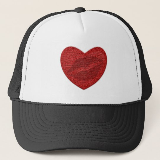 Red Lipstick Trucker Hat