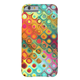 Red Liquid Rainbow Dots Abstract Pattern iPhone 6 Case